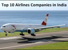 Top 10 Airlines companies in india