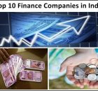 Top 10 finance companies in India